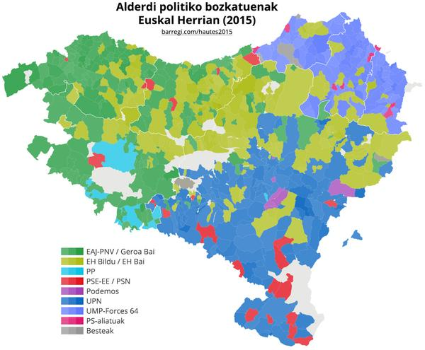Basque Map Of Spain.Local Province Elections 2015 In Spain The Basque Country Dr